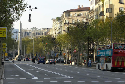 Passeig de Gràcia in Barcelona