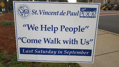 St. Mary's St. Vincent de Paul Walk for the Poor Fundraiser, Sat - Sep 30