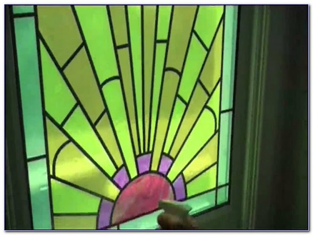 Green Stained GLASS WINDOWS Film for sale