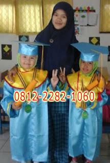 Jual Baju Toga Wisuda Anak TK, PAUD, SD, SMP dan Sarjana disekitar Palembang