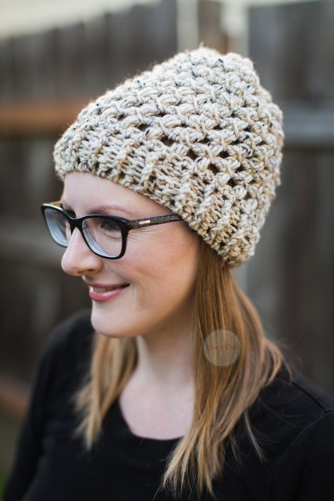 Parker Crochet Beanie, Slouchy Beanie, Crochet Beanie, Tri-Color Beanie, 3 Color Beanie, Women's, Teen, Crochet Hat