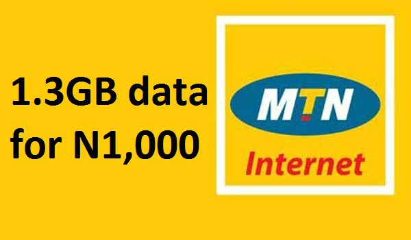 MTN Cheap data, get MTN 1.3GB for 1,000