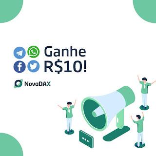 Cadastre-se na NovaDAX para ganhar R $ 10