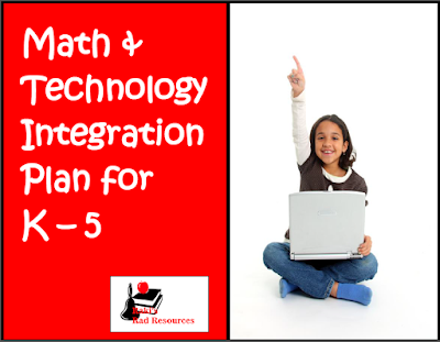 Free year long math and technology integration plan for kindergarten through fifth grade from Raki's Rad Resources.