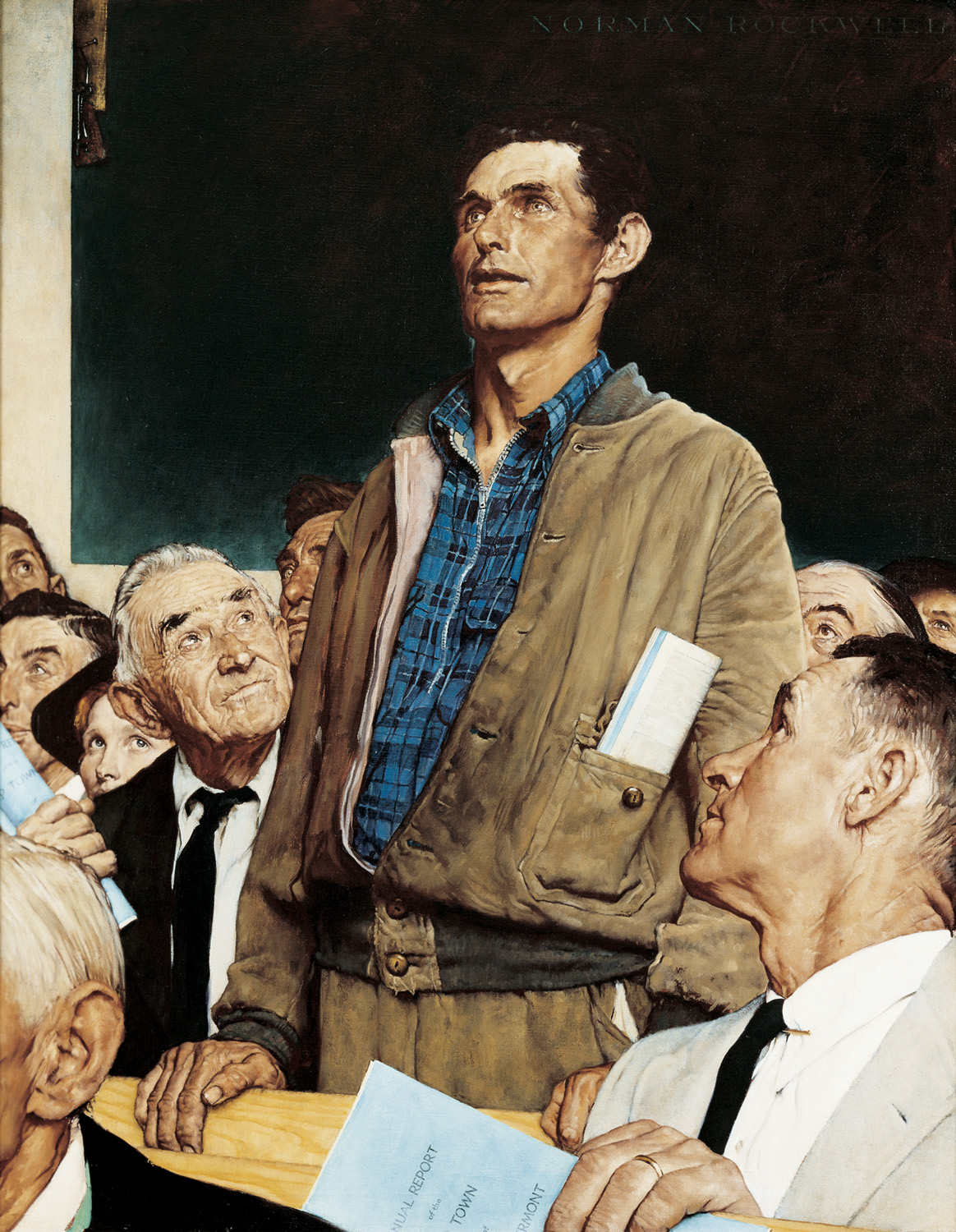 Norman Rockwell Freedom Woship