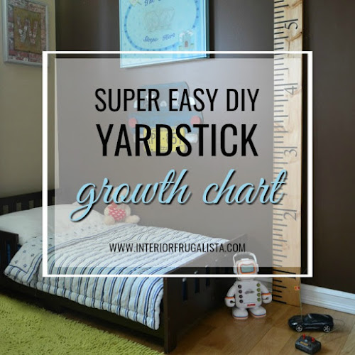 Super Easy DIY Yardstick Growth Chart For Grandparent's Day