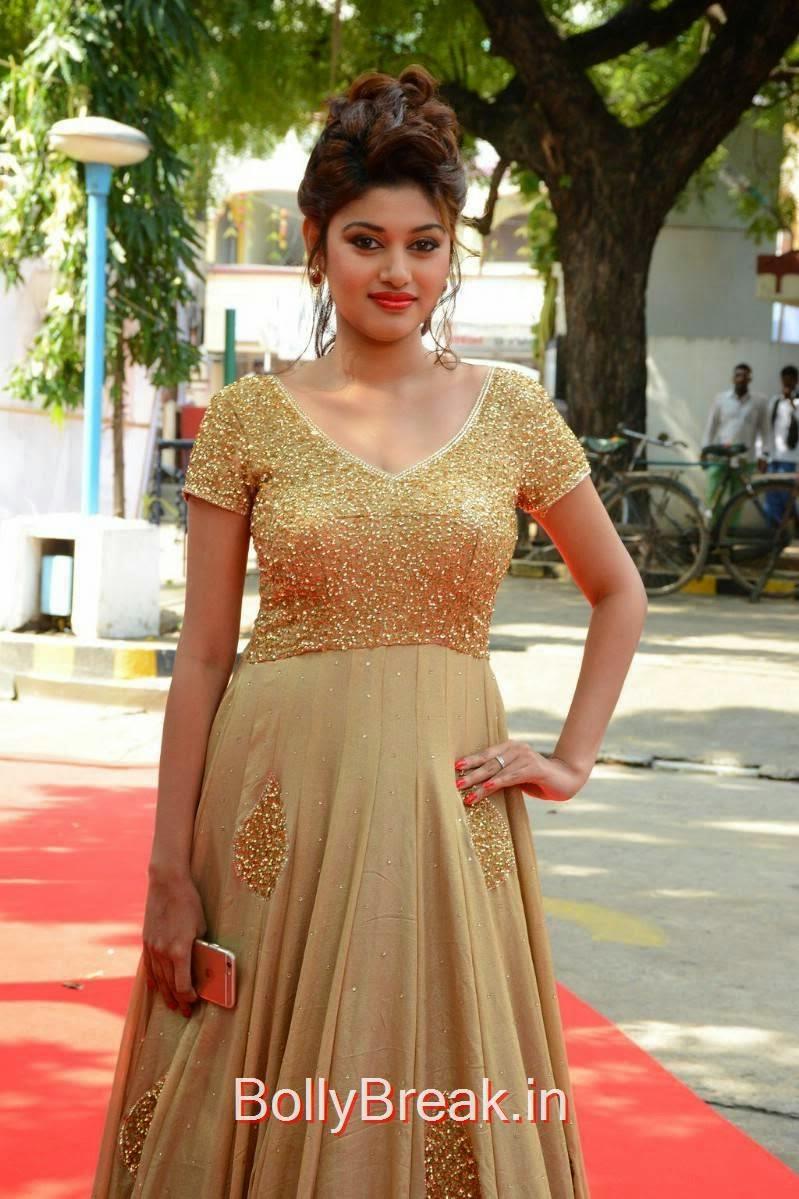 Oviya images, Oviya Hot Pics in golden dress from Sandamarutham Movie