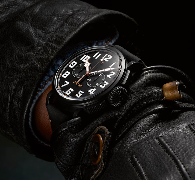 Wristshot of the Zenith Pilot Type 20 Chronograph Ton Up Black
