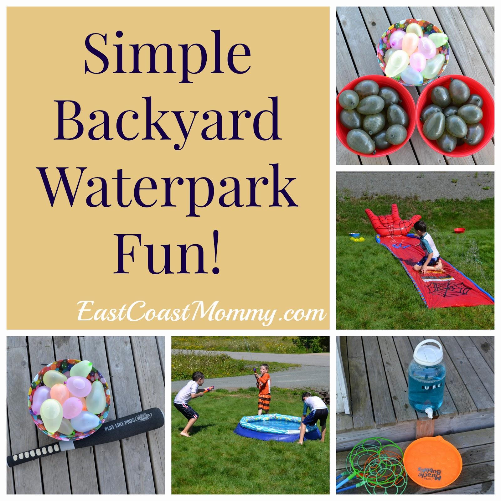 East Coast Mommy: Simple Backyard Water Park
