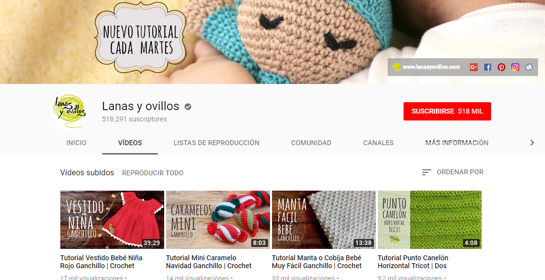 Desenreda La Madeja: 10 canales de Youtube crochetero