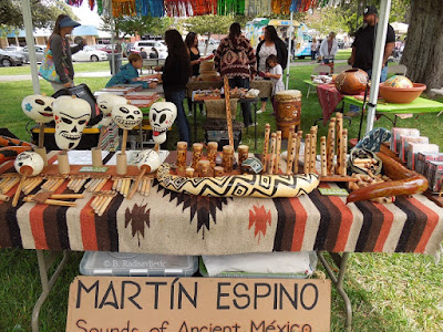 Martin Espino Sounds of Ancient Mexico Booth, Paso ArtsFest 2015,  © B. Radisavljevic