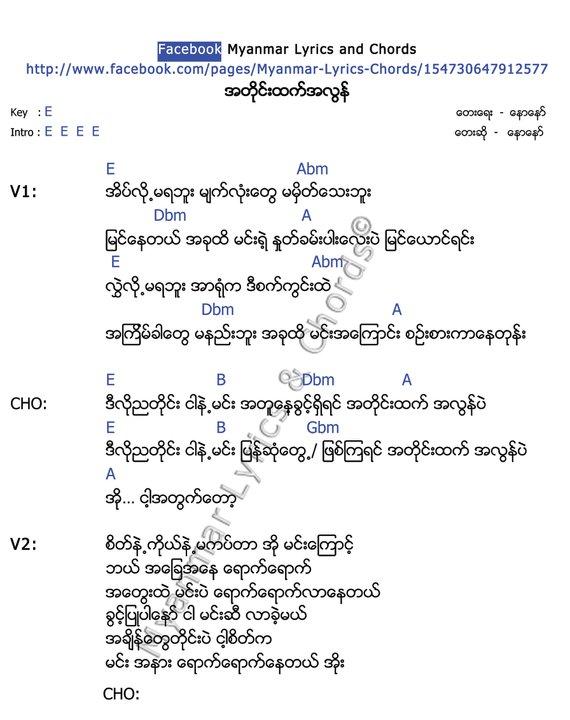 Guitar : guitar chords myanmar song Guitar Chords Myanmar at Guitar ...