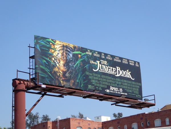 Jungle Book Tiger billboard