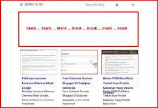 penyebab iklan google adsense ngeblank