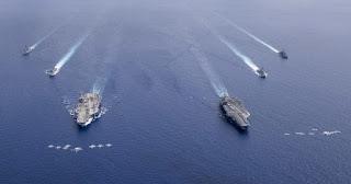 Kelompok Tempur USS Ronald dan USS Nimitz
