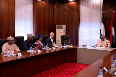FIFA President And Others Meet With President Buhari At The State House. Photos