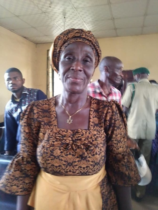 55-Year-Old 'Mama Biafra' Arraigned In Court For Selling IPOB Newspapers (Photos)