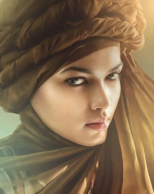 Lukisan Wanita Cantik Berhijab Cikimm Com
