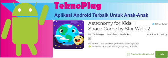 aplikasi android keren terbaik untuk 2-3 tahun