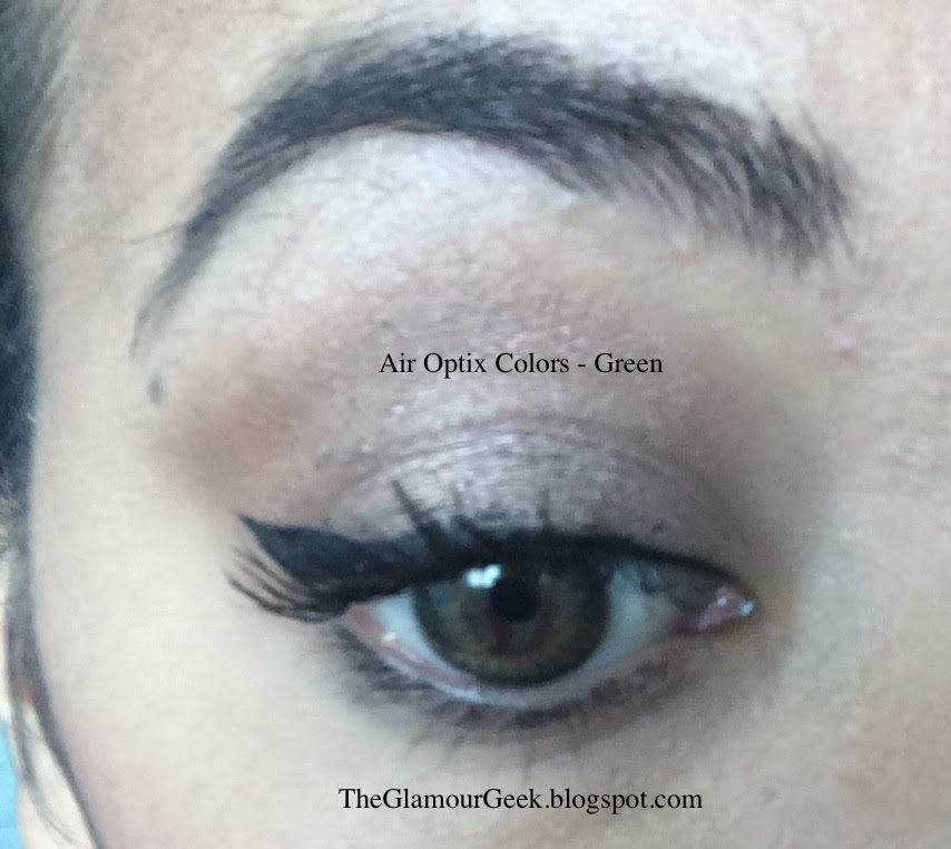 The Glamour Geek Air Optix Colors Review For Brown Eyes