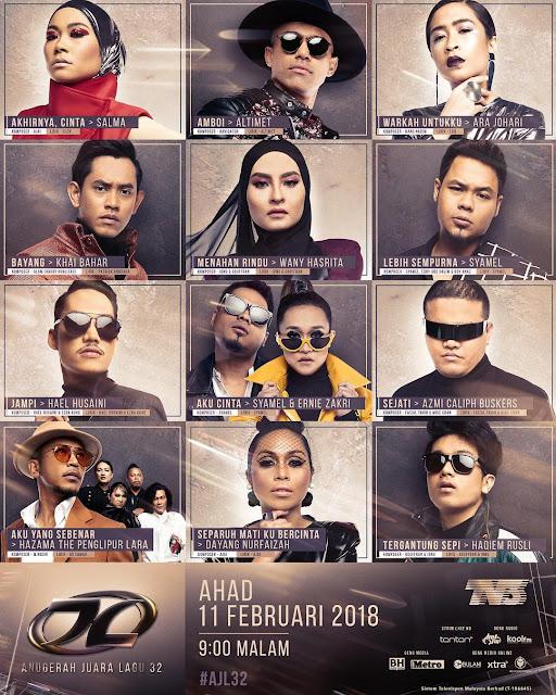 Live Streaming AJL 32 Anugerah Juara Lagu 2018
