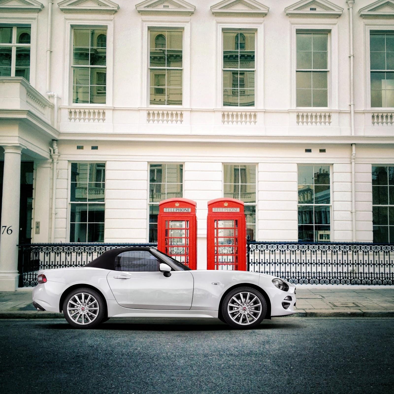 Spider London 2 Το Fiat 124 Spider άρχισε τις εξορμήσεις