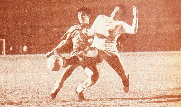 México y Chile en partido amistoso, 11 de mayo de 1966