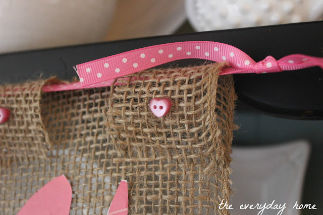 Easy Burlap LOVE Banner | The Everyday Home | www.everydayhomeblog.com
