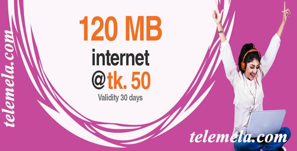 banglalink 120mb internet 50tk
