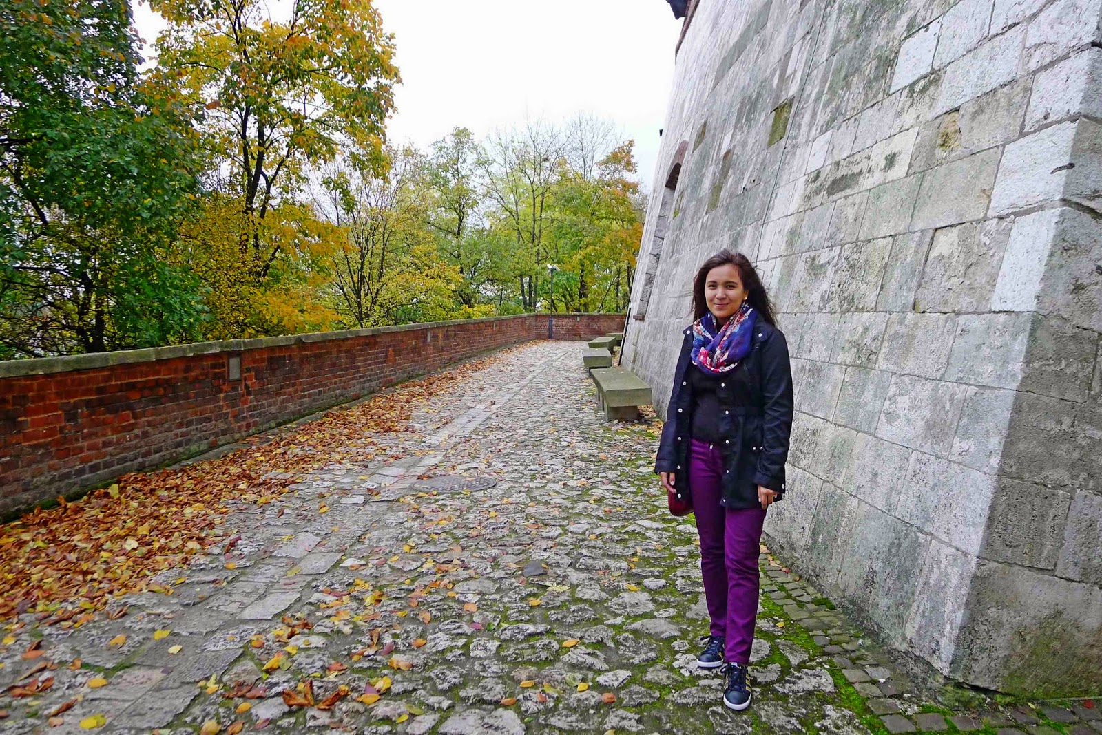Wife at the Wawel Wall