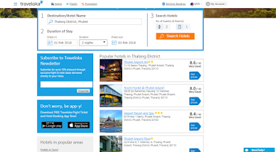 perbandingan hotel, hotel di phuket, best deal hotel, traveloka bagus