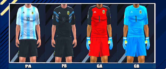 92a4ce7f5 Argentina 2018 World Cup Kits PES PSP For Emulator PPSSPP