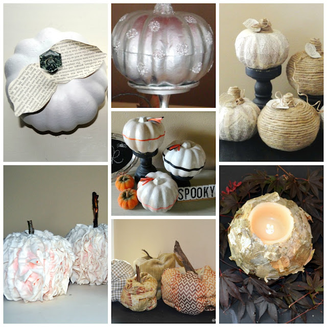 dollar store, faux pumpkins, money saving, halloween, fall