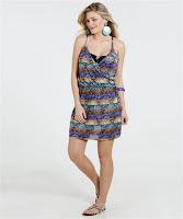 Moda Vestido Feminino Crepe Saída de Praia Marisa