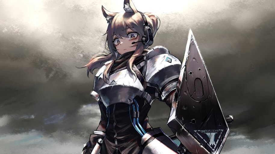 Arknights, Nearl, Anime, Girl, Warrior, 4K, #6.513