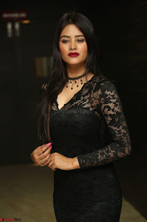 Actress Monica in spicy transparent Black Top at O Pilla Nee Valla Movie Audio Launch Feb 2017 161.JPG