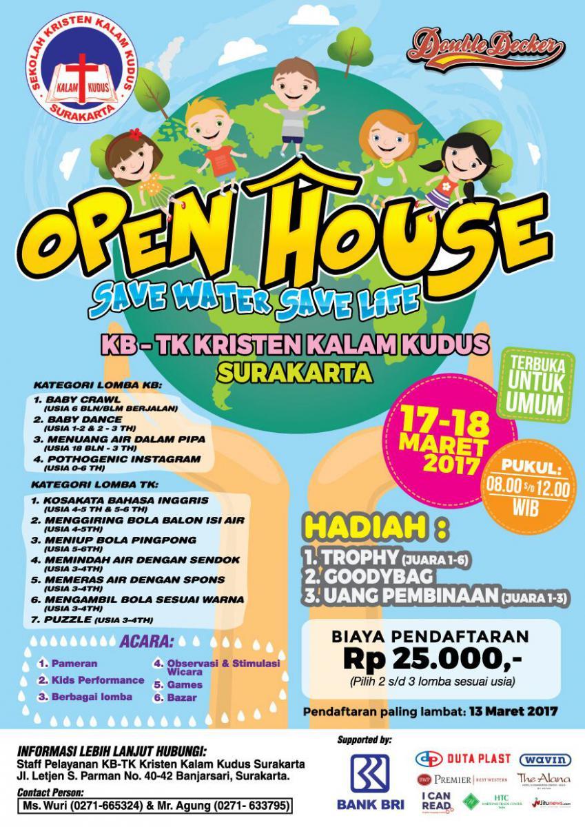 Open House KB-TK Kristen Kalam Kudus (17-18 Maret 2017)