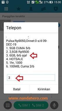 Paket Internet 3 Tri 6GB 6000 Promo Murah