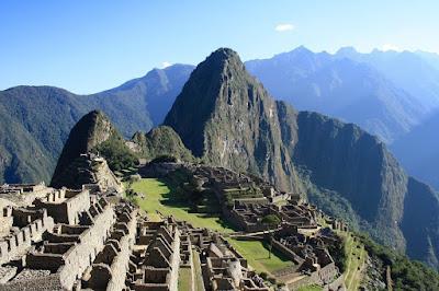 Мачу-Пикчу, Перу. Machu Picchu, Peru горы вид на древний город