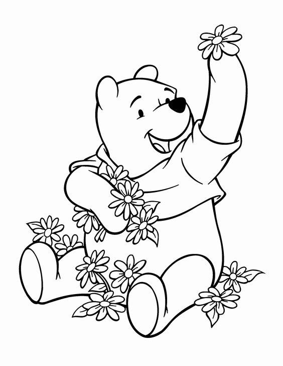 Tranh cho bé tô màu gấu Pooh 06