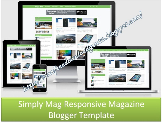 Simply Mag Responsive Blogger Template