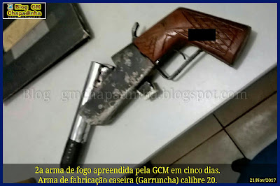 Guarda Municipal apreende arma de fogo e conduz menor a delegacia