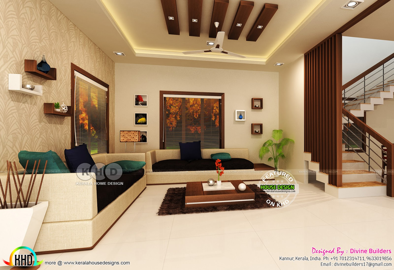 Living Master Bedroom Under Stair Interiors Kerala Home Design Bloglovin