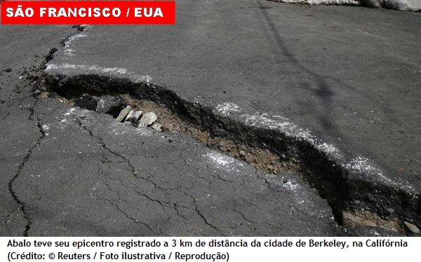 Terremoto atinge costa oeste dos Estados Unidos