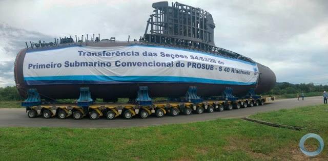 PROSUB - Transferencia de las secciones del Submarino S-40 Riachuelo (video)