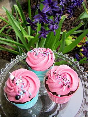 Chocolate Raspberry Cupcakes at Decadent Creations