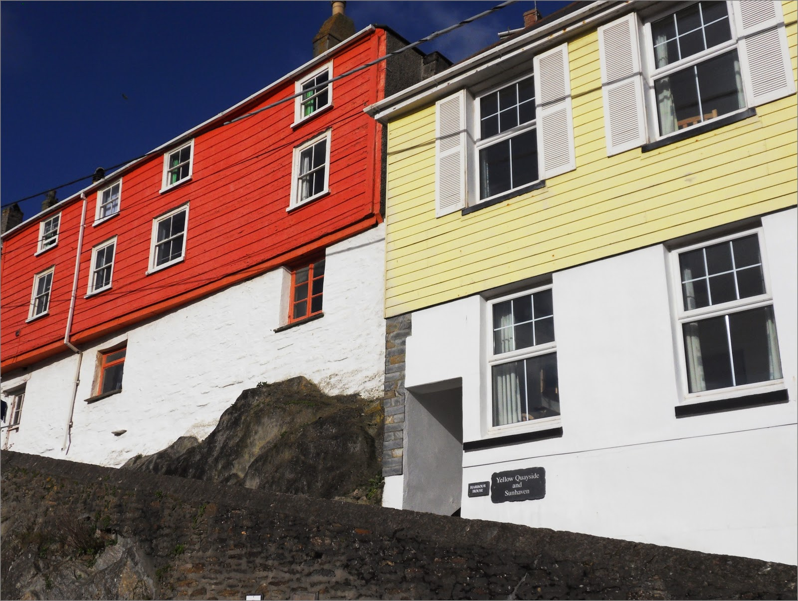 Houses on a hill in Mevagissey Cornwall