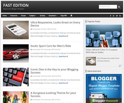 FastEdition Responsive Blogger Template