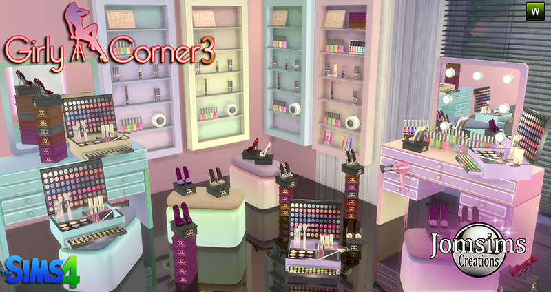 My Sims 4 Blog Girly Corner Vanity And Clutter By Jomsims