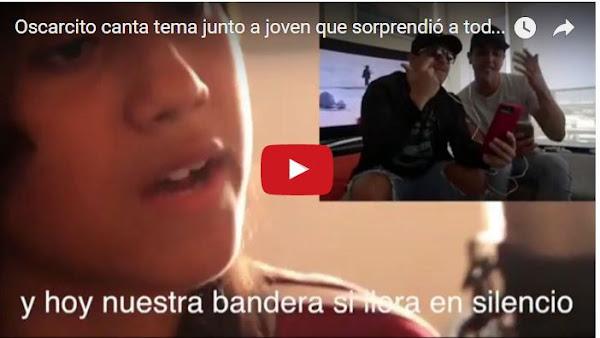 Oscarcito canta un tema con la chica que cantó en la autopista